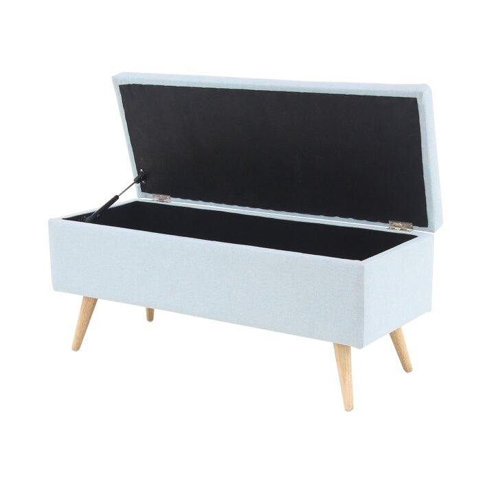Enjoyable Contemporary 18 X 40 Inch Grey Storage Bench Squirreltailoven Fun Painted Chair Ideas Images Squirreltailovenorg