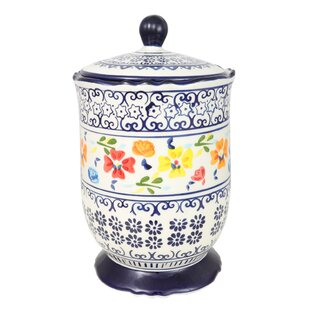 Luxembourg Hand Painted 2.72 qt. Kitchen Canister