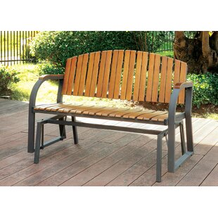 Upper Strode Glider Bench by Millwood Pines New