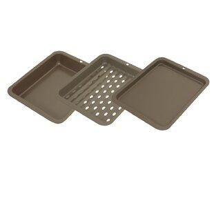 3-Piece Nonstick Toaster Oven Bakeware Set