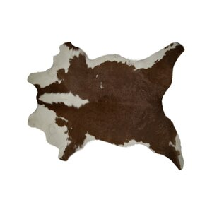 Hampton Hand-Woven Cowhide Brown/White Area Rug