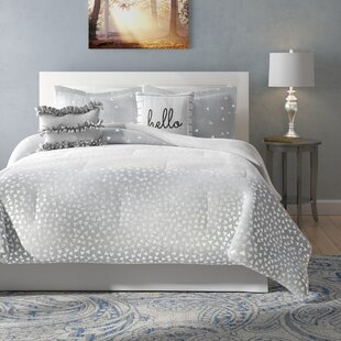 Metallic Silver Comforter Set   Wayfair