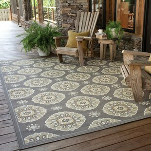 Milton Grey Gold Indoor Outdoor Area Rug