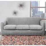 Stretch Block Box Cushion Sofa Slipcover by Sure Fit