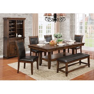 Herbert 6 Piece Dining Set Loon Peak