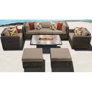 Mejia 8 Piece Outdoor Sofa Seating Group with Cushions