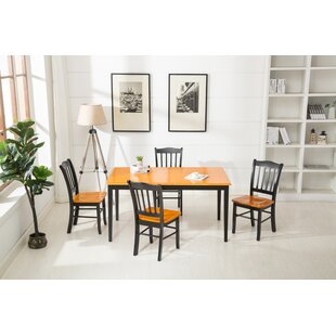 Weldy 5 Piece Dining Set Red Barrel Studio