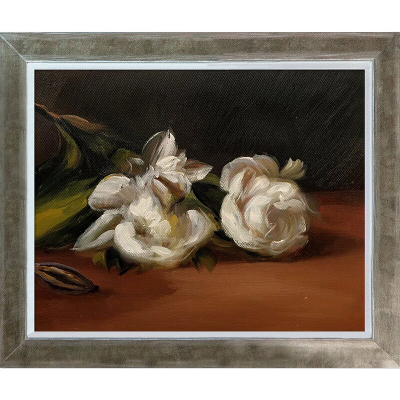 Vault W Artwork Branch Of White Peonies With Pruning Shears By Edouard Manet Picture Frame Print On Canvas Wayfair