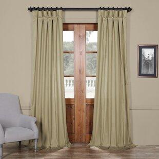 Flint Solid Indoor Cotton Semi Sheer Single Curtain Panel