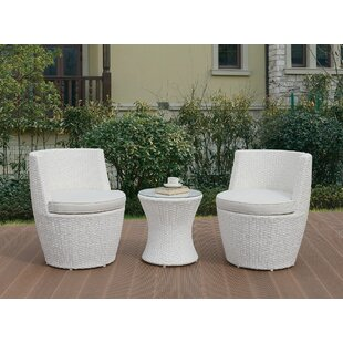 Anthonyson 3 Piece Rattan Conversation Set with Cushions