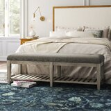Marion Upholstered Shelves Storage Bench by Kelly Clarkson Home