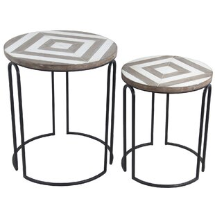 Inexpensive Olmos 2 Piece Nesting Tables ByUnion Rustic