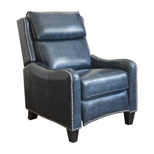 Longshore Tides Paola Leather Manual Recliner