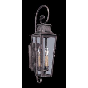 Best Sutton 2-Light Outdoor Wall Lantern By Darby Home Co