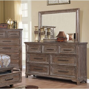 Gracie Oaks Mcmillin 7 Drawer Double Dresser with Mirror