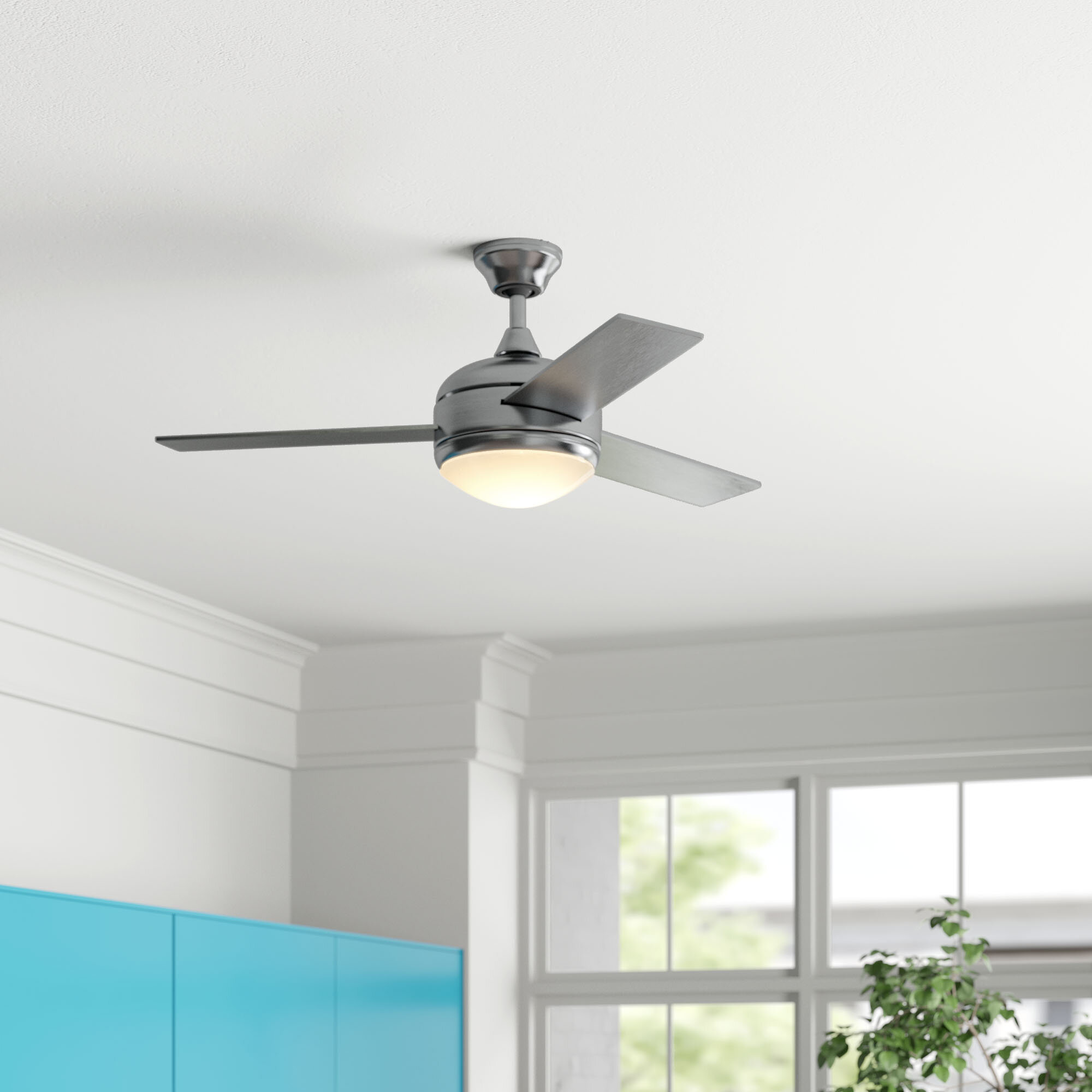 Zipcode Design 48 Dennis 3 Blade Ceiling Fan With Remote Control And Light Kit Included Reviews Wayfair