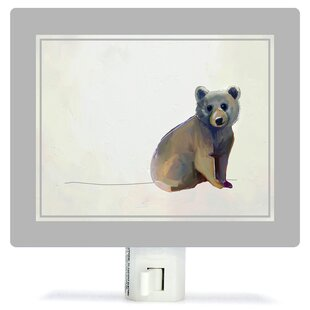 Oopsy Daisy Baby Bear Sitting by Cathy Walters Canvas Night Light