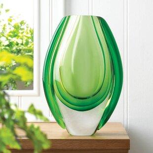 Olgrah Emerald Art Glass Vase byZipcode Design