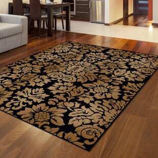 Mitchell Black/Brown Area Rug by Threadbind