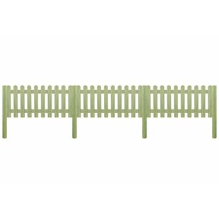 17' x 4' (5.1m x 1.3m) Picket Fence Panel by vidaXL