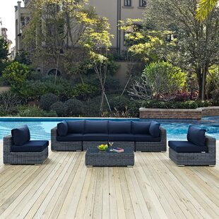 Keiran 7 Piece Sunbrella Sectional Set with Cushions by Brayden Studio