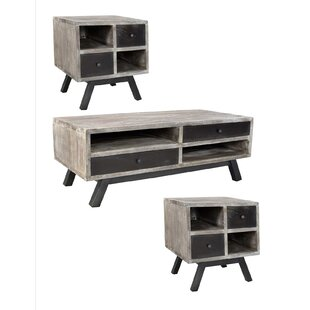 Foundry Select Brundidge 3 Piece Coffee Table Set (Set of 2)