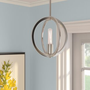 Bargain Hazel Brush Nickel 1-Light Globe Pendant By Laurel Foundry Modern Farmhouse