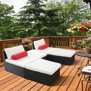 Bellicent 5 Piece Rattan Seating Group with Cushions