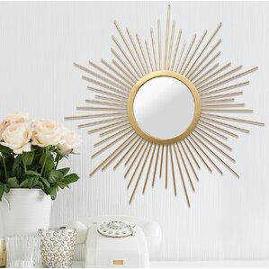 sunburst metal wall mirror