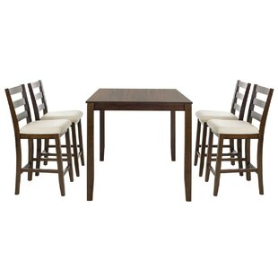 Alcott Hill Hervey Bay 5 Piece Pub Table Set