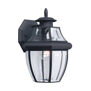 Compare prices Kylertown 1-Light Outdoor Wall Lantern By Darby Home Co