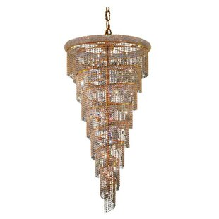 Everly Quinn Mathilde 26-Light Crystal Chandelier