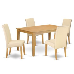 Madelynn Kitchen Table 5 Piece Solid Wood Dining Set