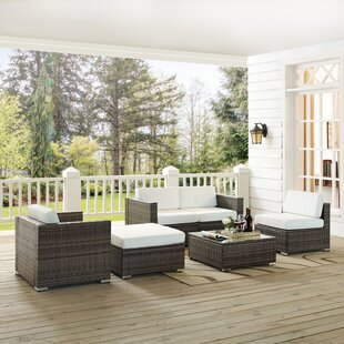 Carmelo 6 Piece Rattan Conversation Set with Cushions