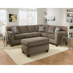 Loria 2 Piece Living Room Sectional with Ottoman