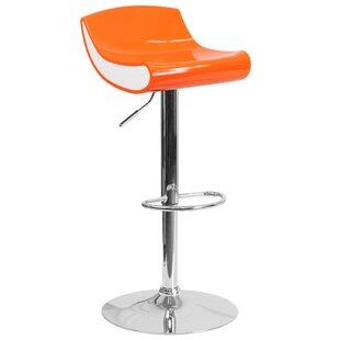 Brescia Adjustable Height Swivel Bar Stool by Ebern Designs