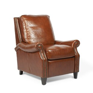 Velden Leather Manual Recliner Canora Grey