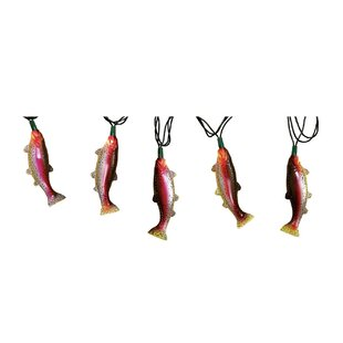 Affordable 10-Light 10 ft. Rainbow Trout String Lights By River's Edge Products