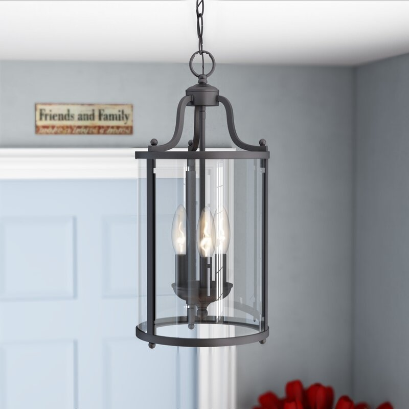 Aarav 3 - Light Lantern Cylinder Pendant