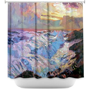 Pacific Ocean Single Shower Curtain by East Urban Home Top Reviews