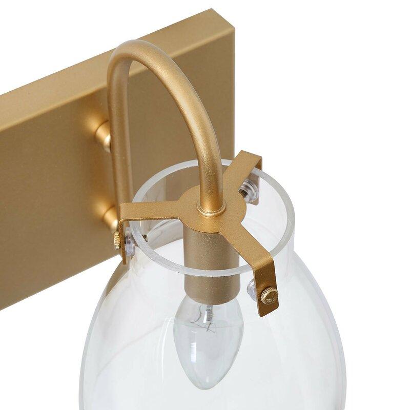 Mercer41 Stenger 3 Light Dimmable Gold Vanity Light Reviews Wayfair Ca