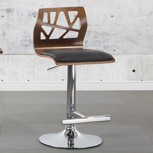 Lorcan Adjustable Height Bar Stool by Home Etc