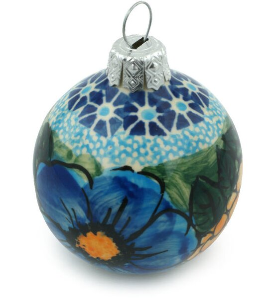 - Polmedia Corn In The Blue Polish Pottery Ball Ornament Wayfair