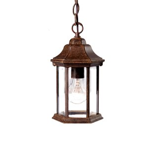 Price comparison Pruitt 1-Light Outdoor Hanging Lantern By Charlton Home