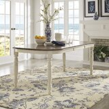 Itchington Butterfly Leaf Rubberwood Dining Table by Three Posts™