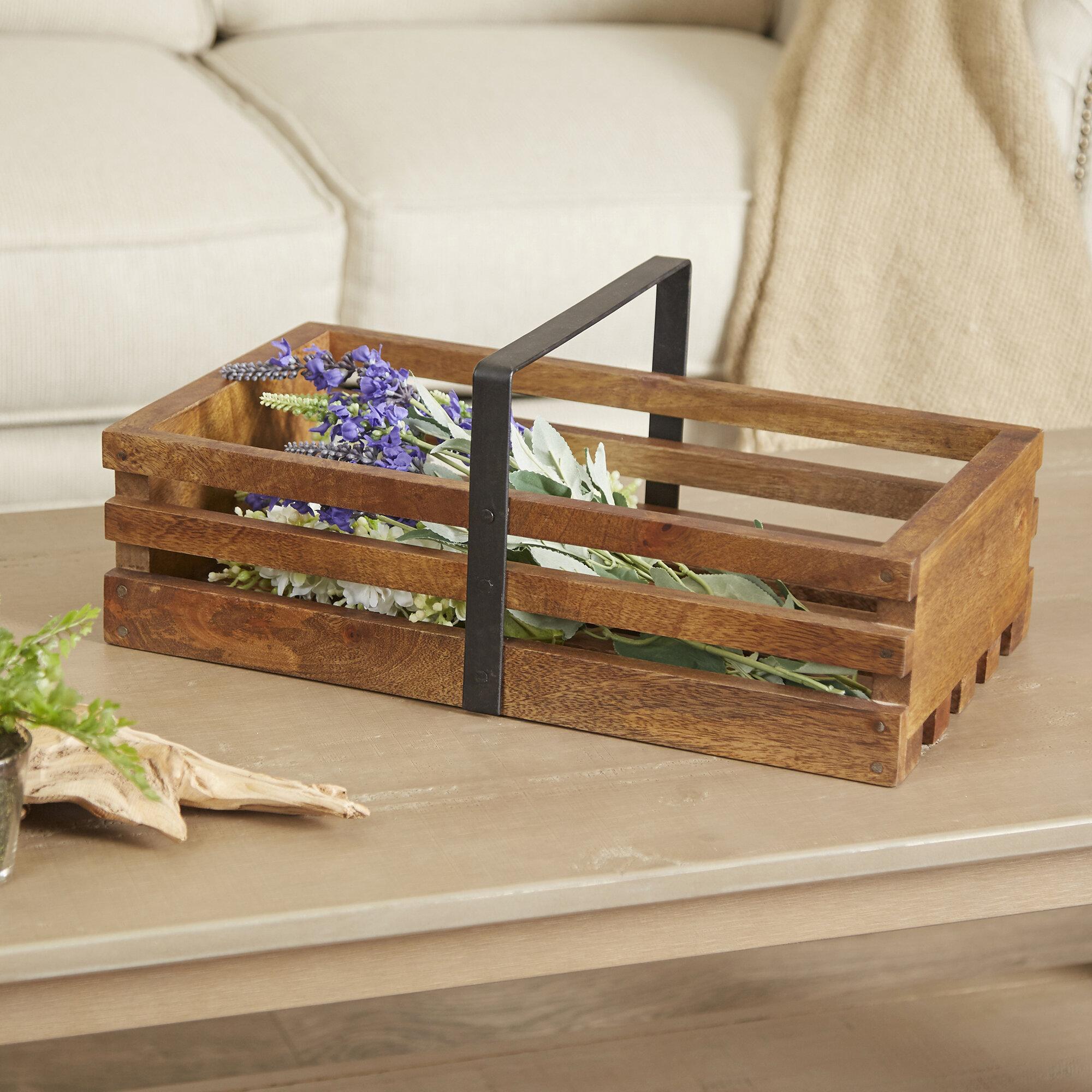 Birch Lane™ Wooden Gathering Basket | Birch Lane