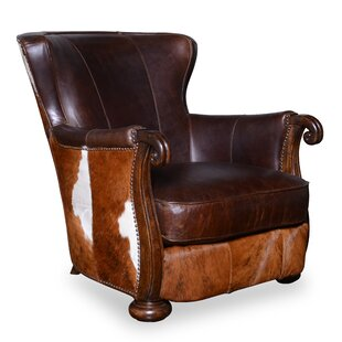 Darby Home Co Blondell Hide Wingback Chair