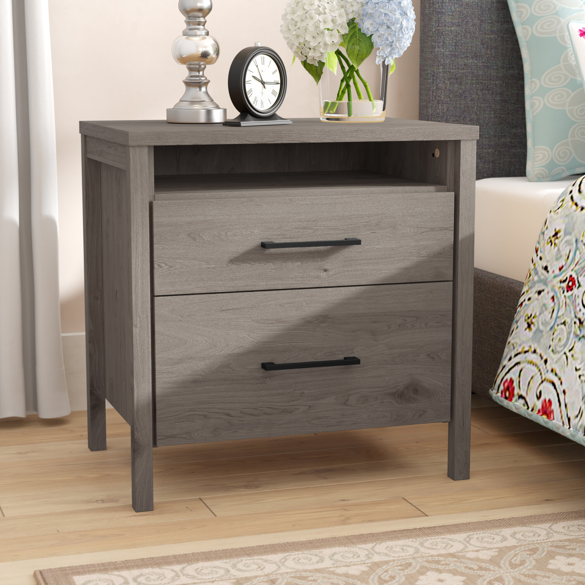 South Shore Gravity 2 Drawer Nightstand Reviews Wayfair