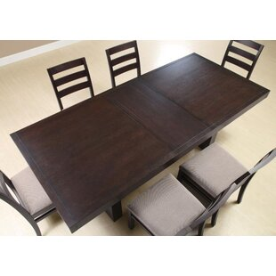Price comparison Mhatre Extendable Solid Wood Dining Table ByLatitude Run