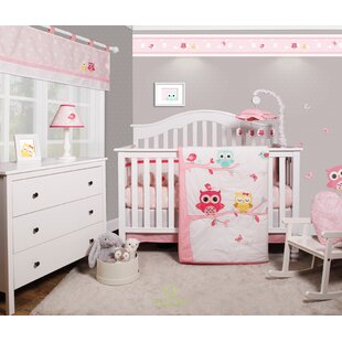 Doncaster Enchanted Owls Family Baby Nursery 6 Piece Crib Bedding Set Of